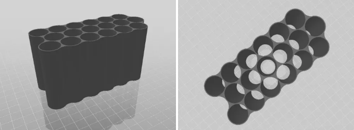 Composite fiber cell holder - 3D Rendering by CMEC