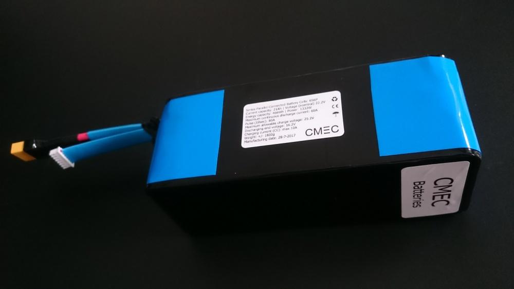 6S 22.2V 21Ah 60A Li-ion battery. CMEC Batteries
