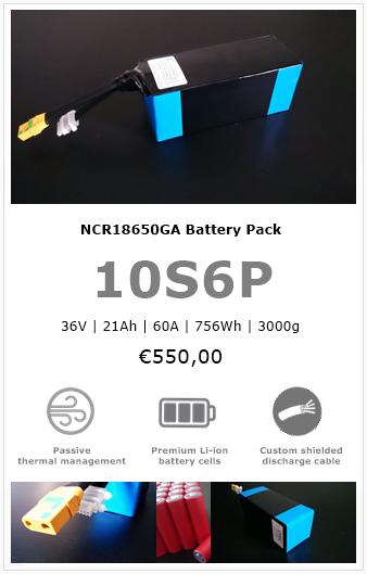 Panasonic Sanyo NCR18650GA battery pack
