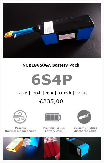 6s4p drone battery pack