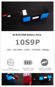 10S9P NCR20700B UAV/drone battery pack